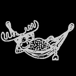 łoś w hamaku | Chrosiówka noclegi na Mazurach